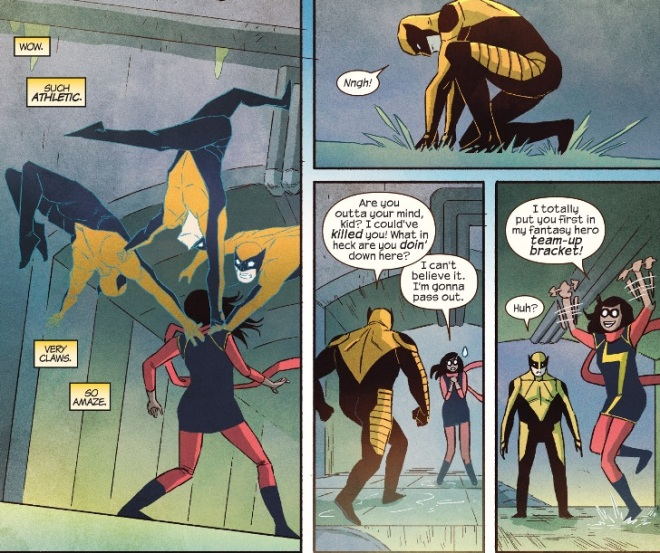 Ms. Marvel teams up with Wolverine in Ms. Marvel #7