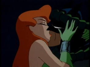 Poison Ivy and Batman get hot 'n heavy in The Animated Series.