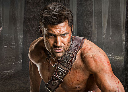 Manu Bennett as Crixus in Spartacus