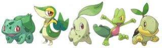 Pokemon Grass Types