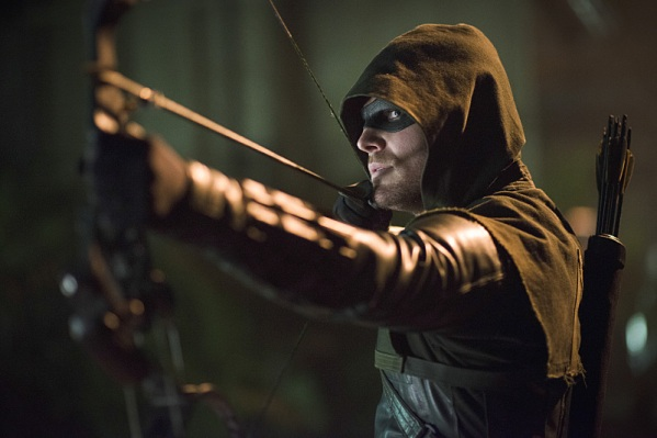 Oliver Queen defends his city against... a lot of other archers.