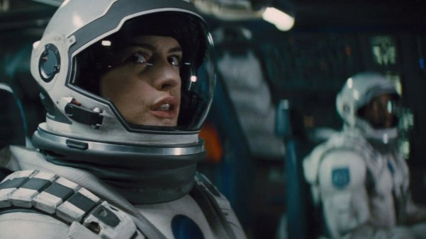 Anne Hathaway in Interstellar.