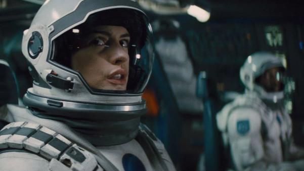Anne Hathaway in Interstellar.