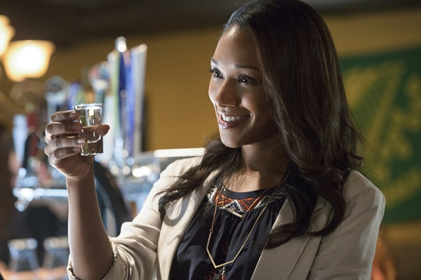 """Iris """"cheers""""ing, but I'm not falling for this girl just yet."""