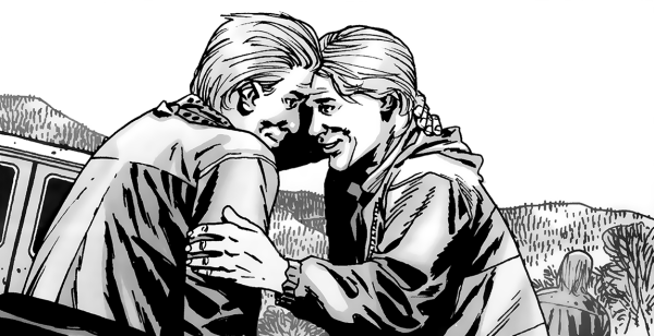 Aaron and Eric The Walking Dead Comic