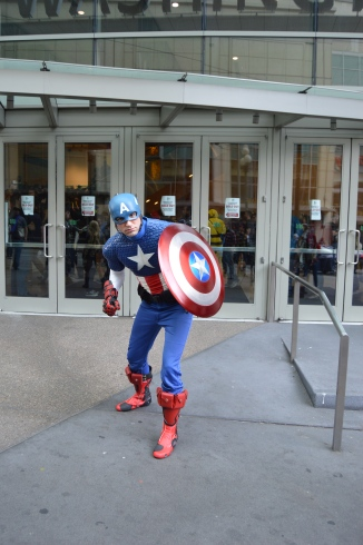 Captain America defends the con.