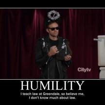 jeff winger motivational - humility