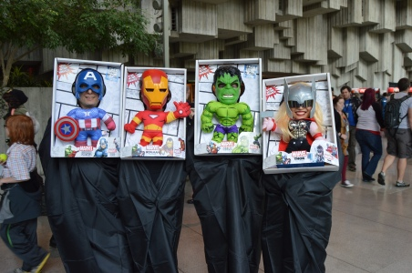 These four were too cute in their Marvel Toys Costume