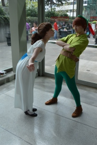Wendy and Peter Pan were some of the best cosplay in costuming and character I have ever seen!