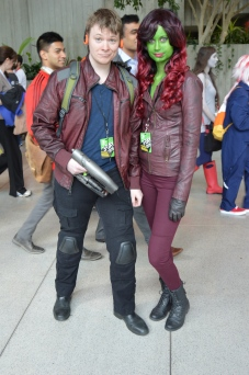 Star Lord and Gamora saved the Galaxy in the Emerald City.