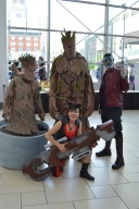 Baby Groot, Groot, Star Lord, and Rocket Raccoon Cosplay at Denver Comic Con 2015