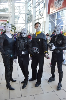 Borgs and Data Cosplay at Denver Comic Con 2015