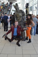 Star Lord, Groot, and Rocket Raccoon
