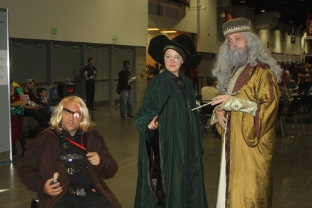 Mad Eye Moody, Professor McConagall, and Dumbledore Cosplay at Denver Comic Con 2015
