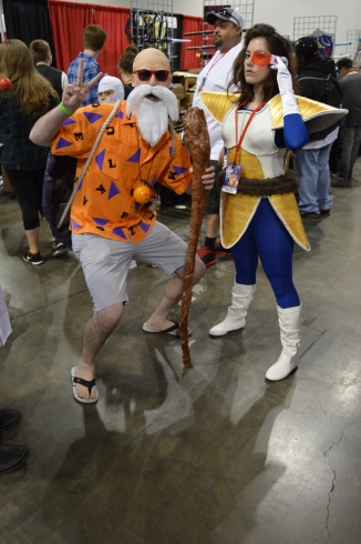Master Roshi and Vegeta