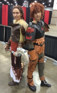 Valka and Hiccup Cosplay at Denver Comic Con 2015