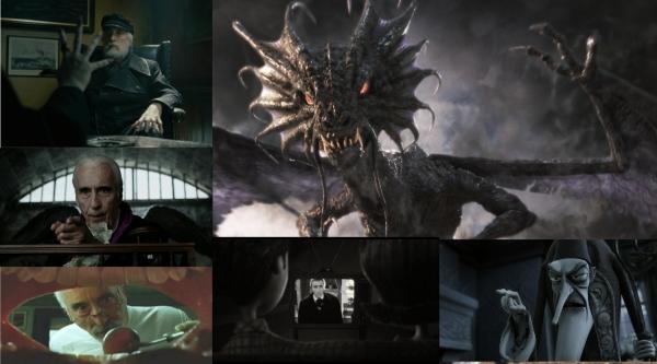 Christopher Lee Tim Burtons Roles