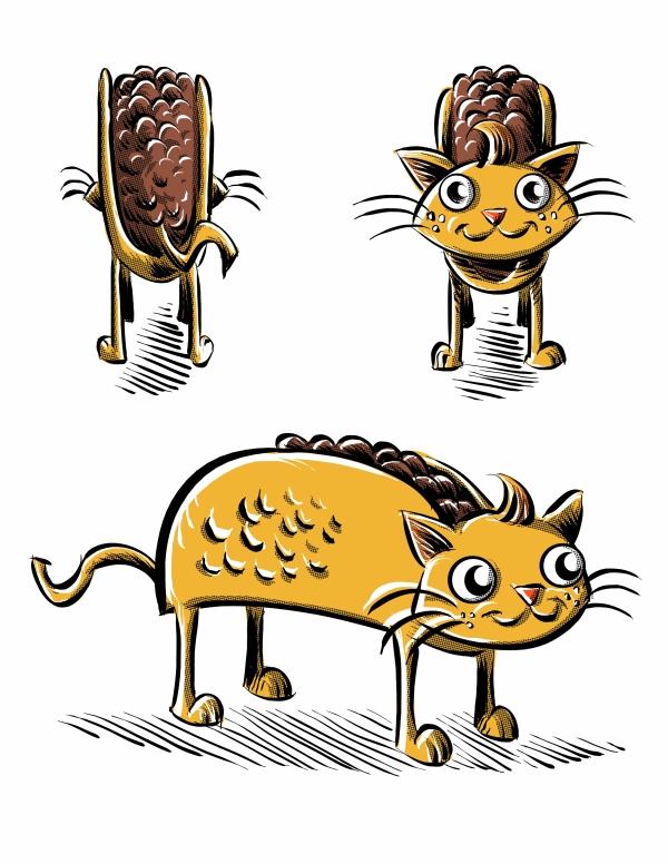 Hush Comics' EXCLUSIVE look at how 8:15's Tacocat Plush will look