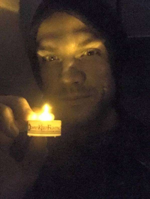 jared with candle