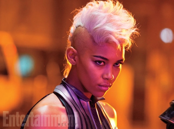 Alexandra Shipp as Storm in X-Men: Apocalypse. Photo coutresy of EW and property of Fox Studios