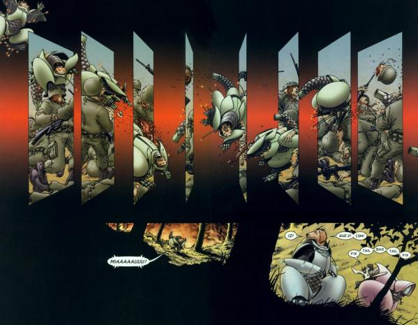 A panel from Grant Morrison and Frank Quietlys We3