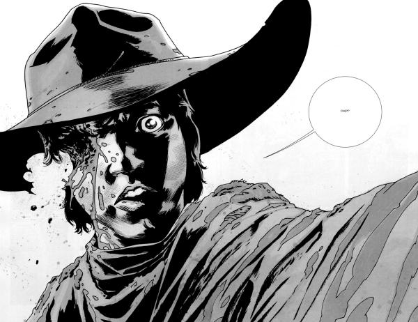 twd carl shot